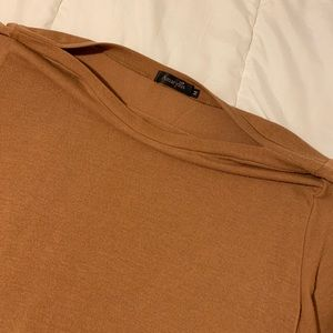 Amaryllis Tops - Camel Boatneck with Bell Sleeves